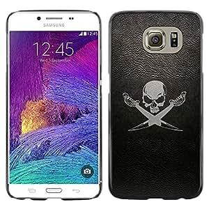 Smartphone Rígido Protección única Imagen Carcasa Funda Tapa Skin Case Para Samsung Galaxy S6 SM-G920 cherep sabli fon / STRONG