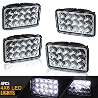 DOT 4X6 Rectagular LED Headlight Assemblies Replace H4651 H4656 Sealed Beam Headlamps KW Kenworth T-600 W900 T800 Truck Peterbilt 379 GMC topkick Dodge Dakota John deere 4wd Pontiac trans am chevy RV