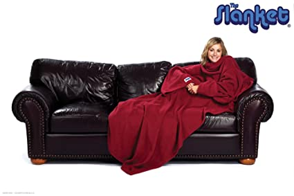 b3a7274927 Image Unavailable. Image not available for. Color  Slanket - Ruby Wine Sleeved  blanket with Sleeves