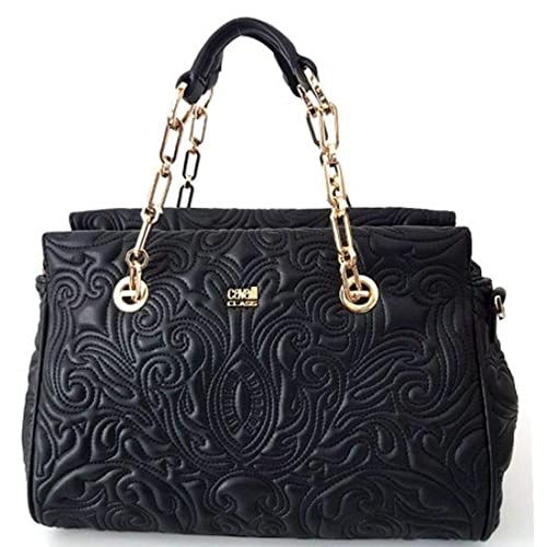 Cavalli Class Medium Handbag Blossom CRC004 Black  Amazon.it  Scarpe e borse 036013ef056