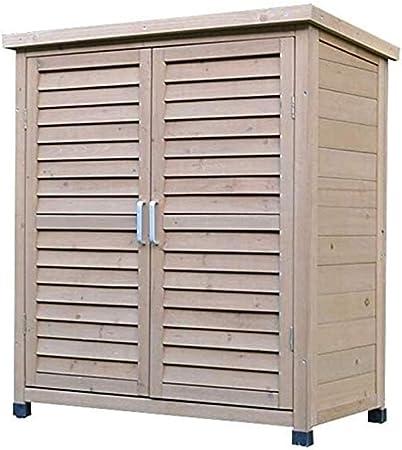 Cobertizos de almacenamiento Jardín armarios de madera de zapatos de almacenamiento al aire libre Gabinete Shed Gabinete Caja de herramientas de la yarda del jardín al aire libre Balcón de almacenamie: Amazon.es: