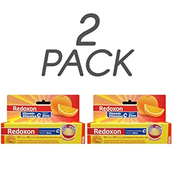 Redoxon Vitamin C with Zinc, Orange Flavored, 20 Ct, 2.82 Oz/80