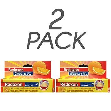 Redoxon Vitamin C with Zinc, Orange Flavored, 20 Ct, 2.82 Oz/80