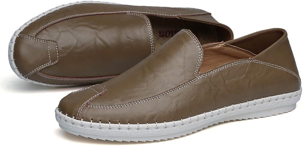Derbys Homme Hommes Slip sur Mocassins PU Cuir Couleur Solide Mode Conduite Bateau Mocassins Casual Chaussures Brown