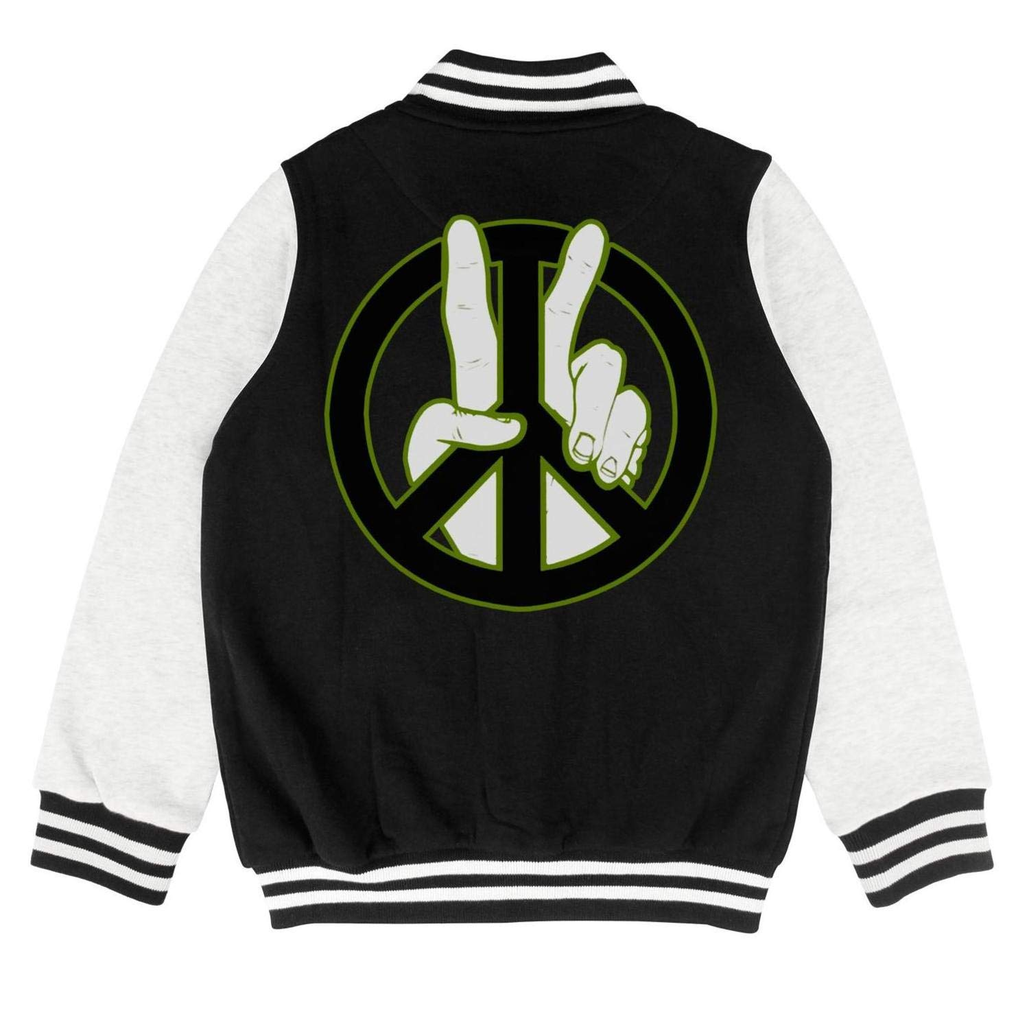 Kids Framed Peace to The 2nd Power Boys Track Jacket for Girls Boys Cute Youth Sizes Coats