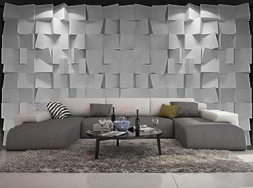 Papier Peint 3d Trompe L Oeil Moderne Cube Gris 415cmx254cm Amazon