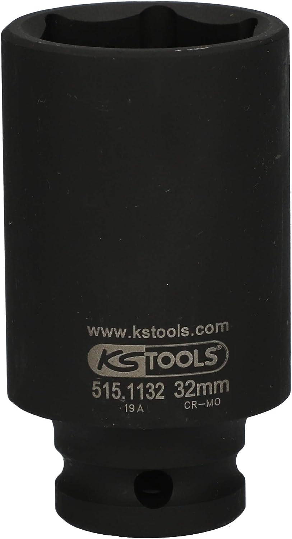 17mm 515,1117 lang Ks/_Tools 1//2 Sechskant-Kraft-Stecknuss