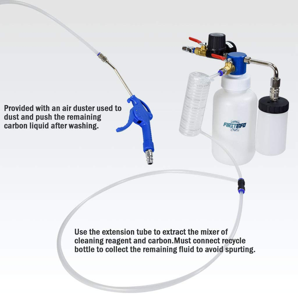 FIRSTINFO 3 in 1 Air/Pneumatic Engine Intake System Carbon Washing Kit Engine Combustor System by FIRSTINFO TOOLS FIT YOUR NEEDS (Image #7)