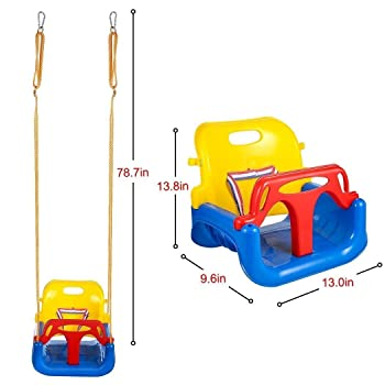 Benlet 3 In 1 Swing Seat, Toddler Secure Detachable Swing Seat
