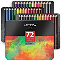 Arteza Professional Colored Pencils Set of 72 Colors,...