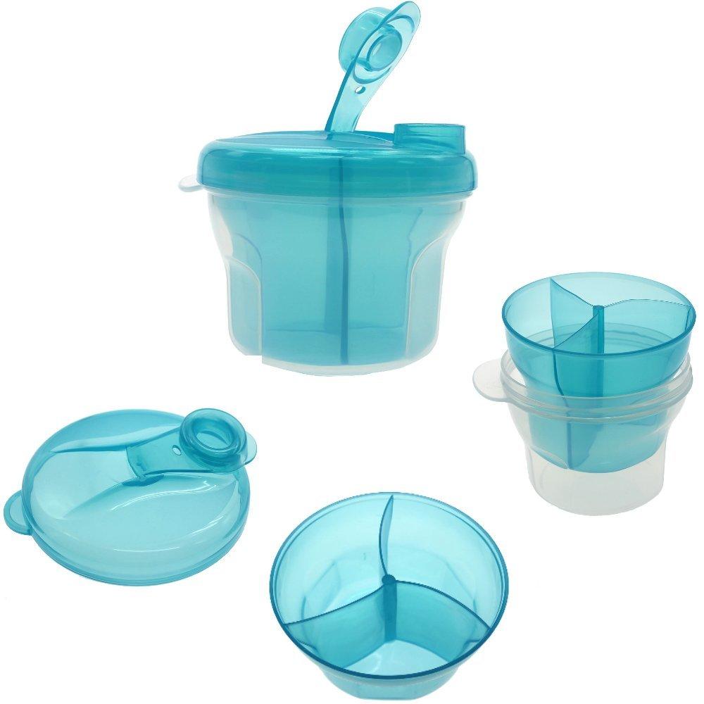 kompassswc b/éb/é Lait en poudre 360//° 3/compartiments Distributeur de lait en poudre Portable Aliments Pour B/éb/é Poudre de Lait Box pour 3/portions