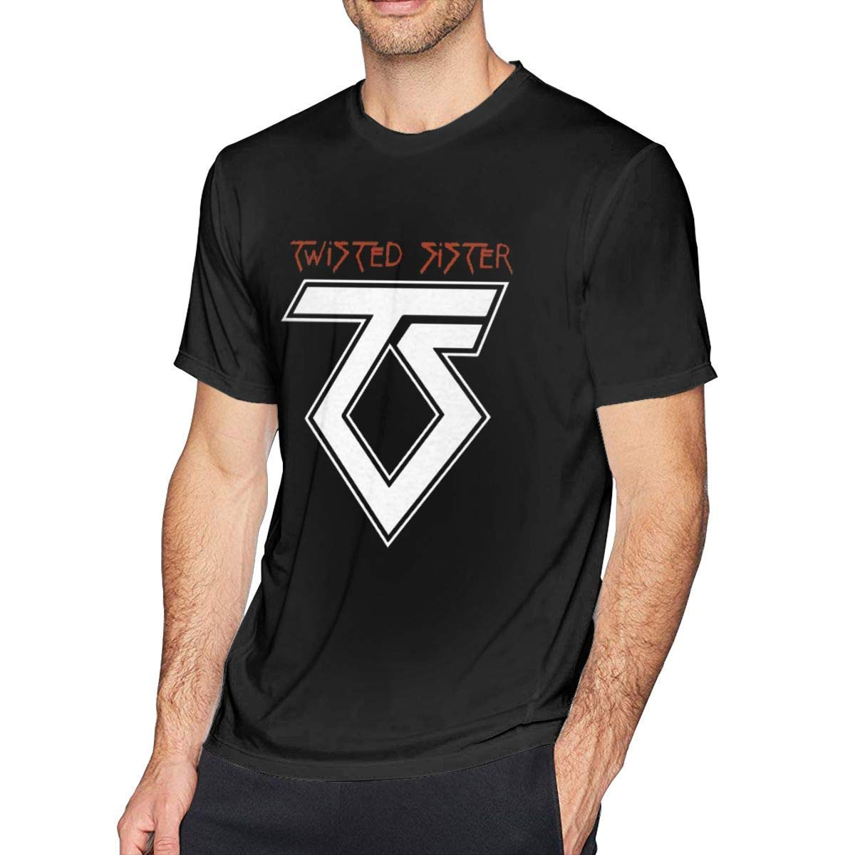 Twisted Sister Band Old School Rock Adult Regular Casual Short T Shirt Tee Black