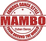 Mambo Cuban Dance Grunge Stamp Home Decal Vinyl Sticker 13'' X 12''