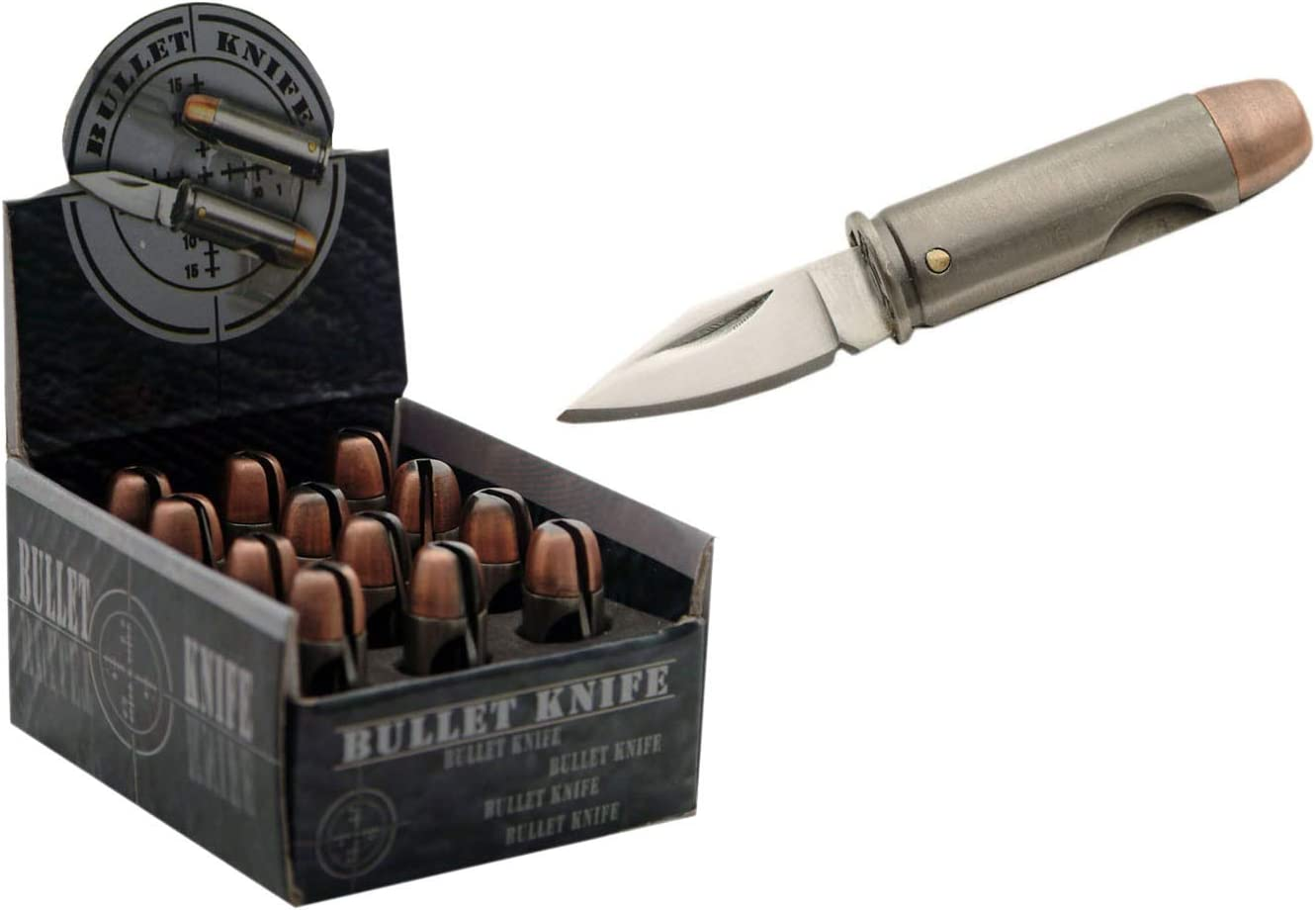 SZCO Supplies 44 Magnum Bullet Knife Display, 12-Piece