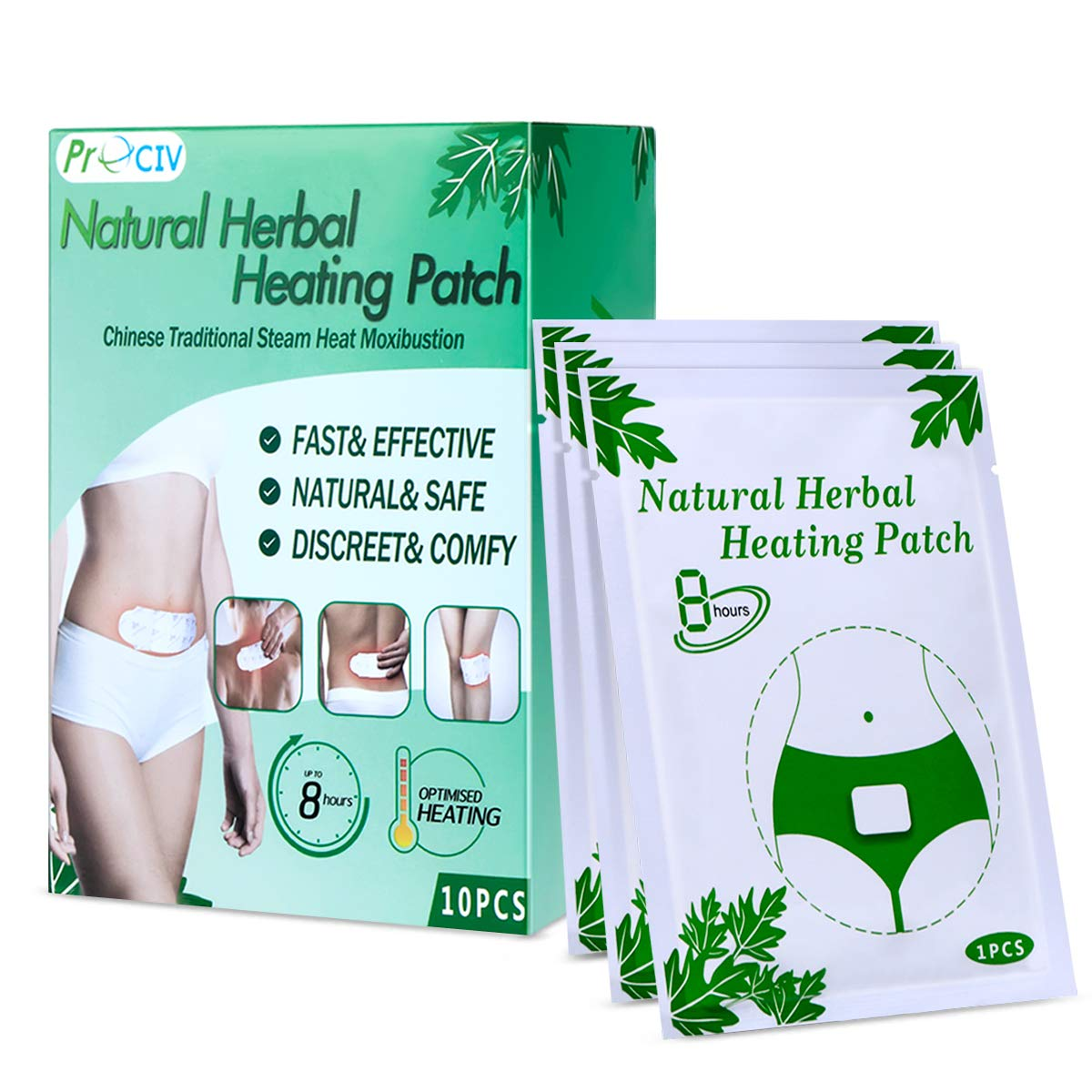 10 Packs Menstrual Heating Patch, Period Pain Relief Heat Patch - Neck, Shoulders, Back Pain Relief