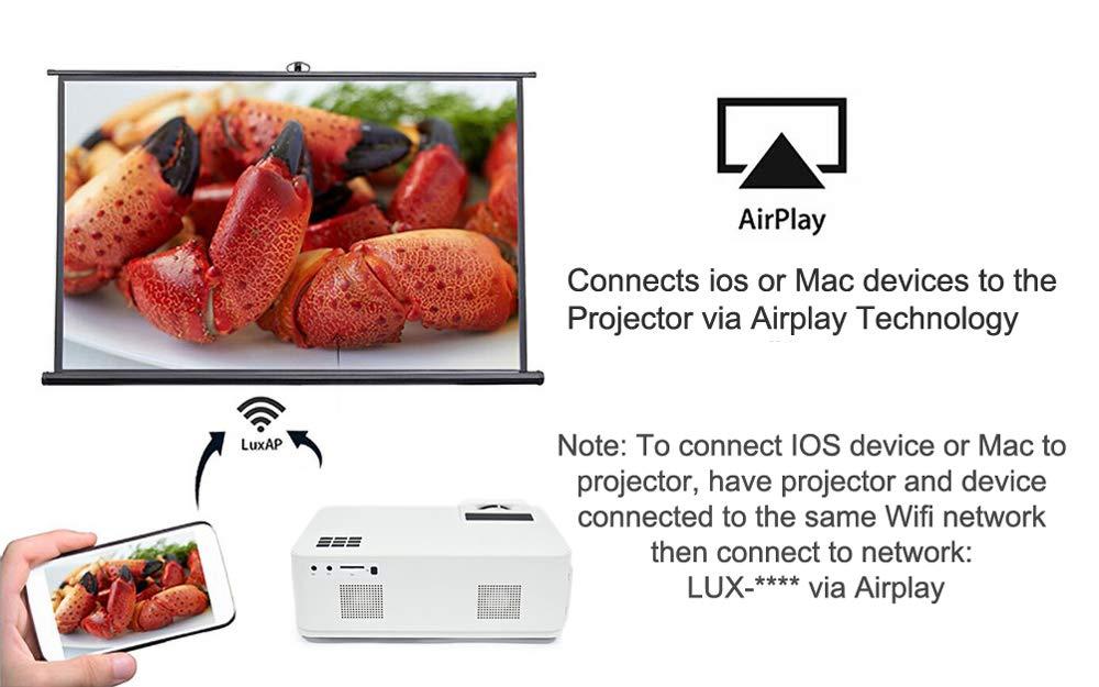 OSB STYLE Proyector WiFi 4000 lumi HD Proyector Nativo 1280 * 768 ...