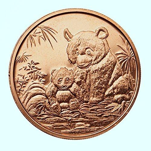 Ten Dollar Gold Coins - 10 China Panda 1 Oz .999 Pure Copper Dollar Coin Rounds