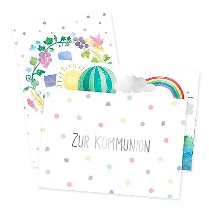 Juego de 3 tarjetas de felicitación para comunión.: Amazon ...