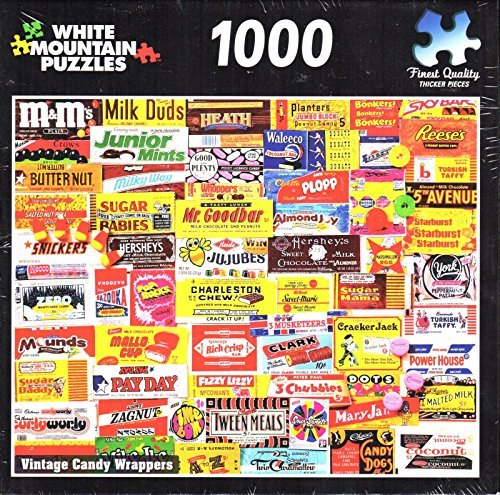Vintage Candy Wrappers 1000 Piece Puzzle from George