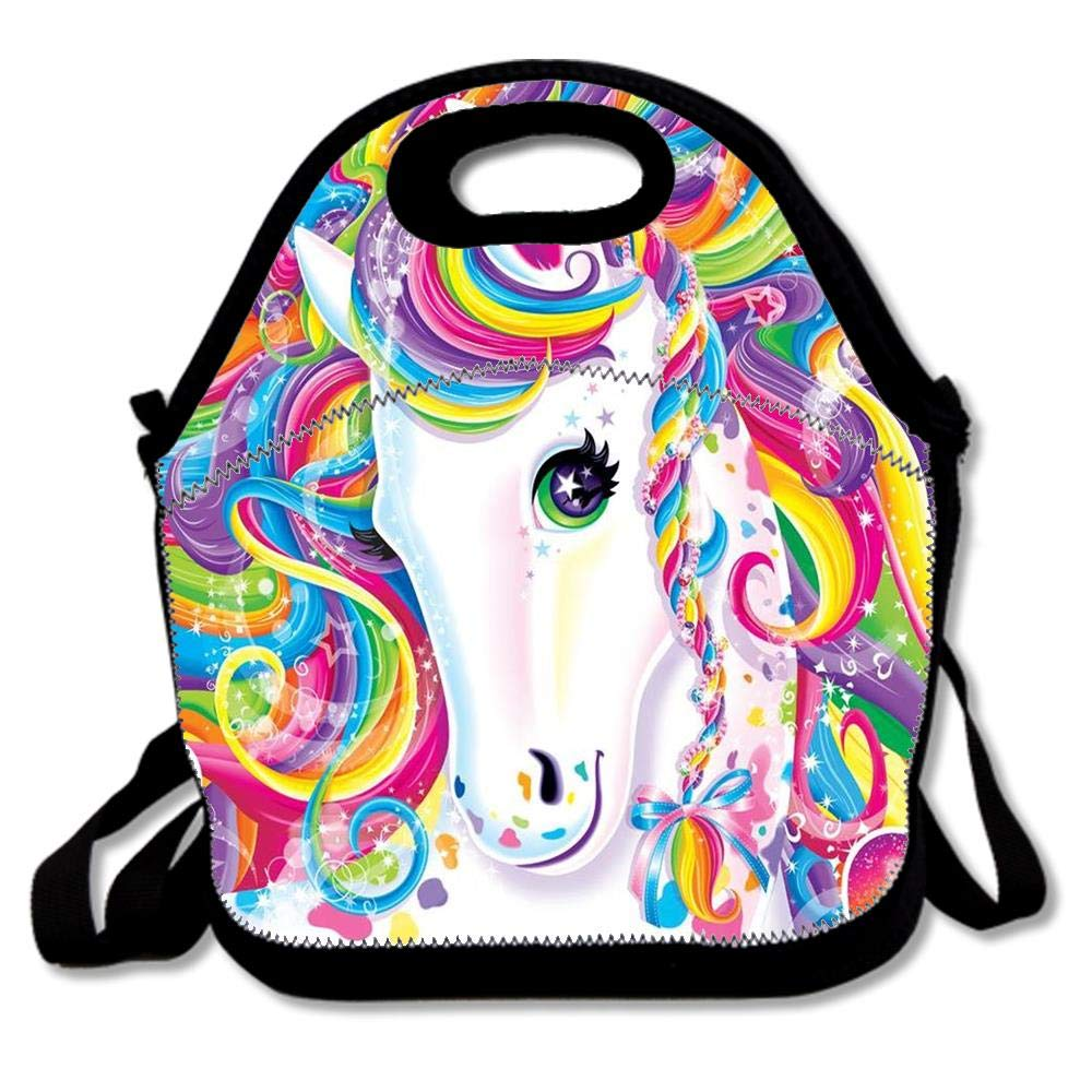 Outdoor Lunch Bag Cute Insulated Lunch Tote Bag, Thermal Lunch Box Reusable Cooler Bag for Women/Men - There'S Now A Lisa Frank Tarot Deck For Your Unicorn