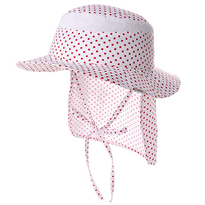 5623f0dc Jeff & Aimy Kids Summer Sun Hat with Neck Flap Toddler Baby Beach UPF 50  Children