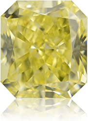 0.51Cts Fancy Yellow Loose Diamond Natural Color Radiant Cut GIA Certificate