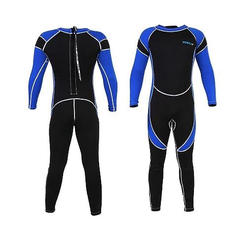 291aba574d3e9 Vbestlife Neoprene Wetsuit,Unisex Kids One Piece Swimsuit Scuba One-piece  Diving Snorkeling Wet Suit Long Sleeve Surfing Swimwear Skin Full Body  Diving ...