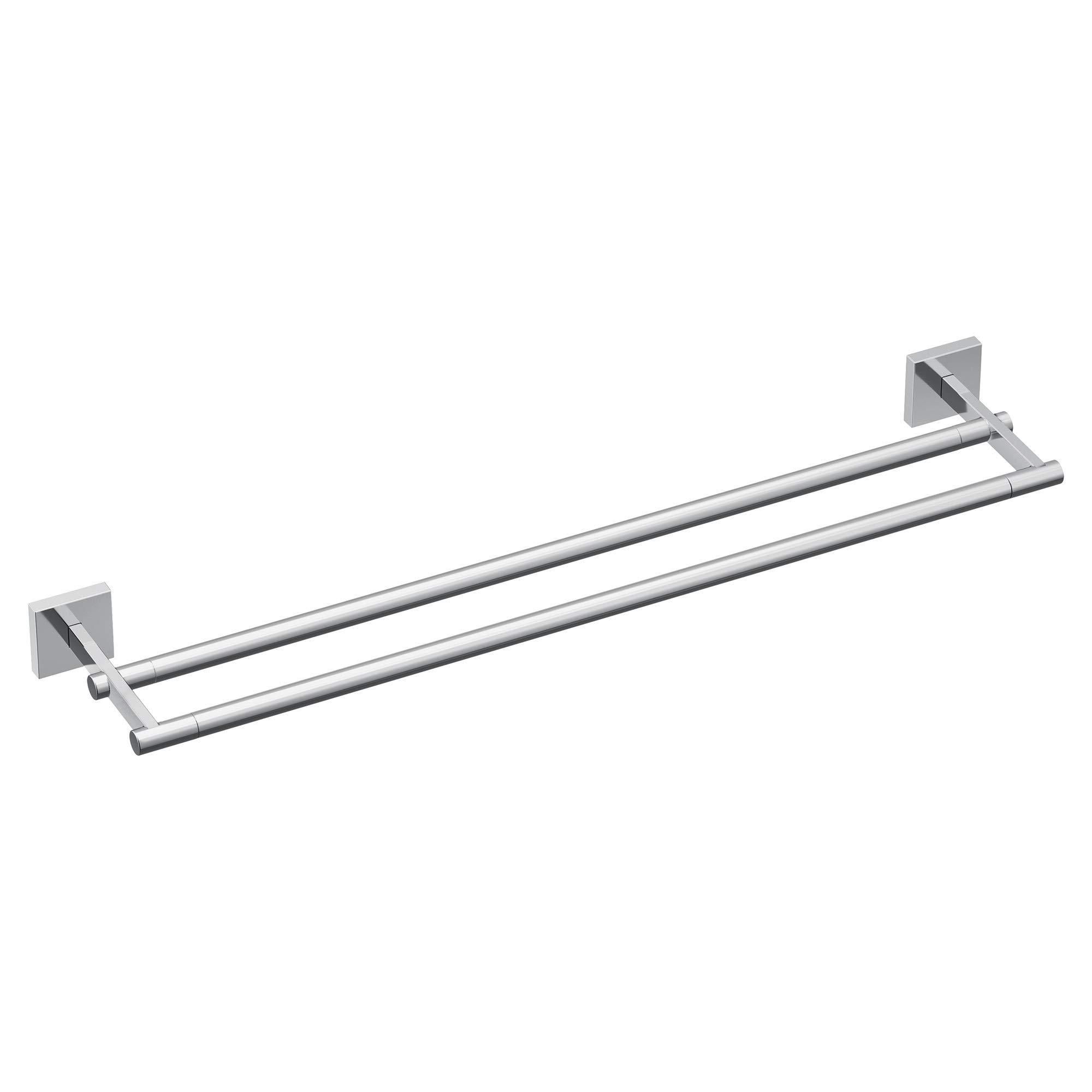 Moen BP1822CH Triva 24'' Double Towel Bar, Chrome