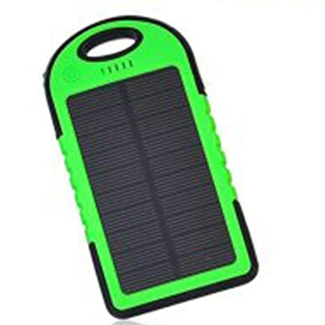 cooljun LED Cargador Solar, Exterior Viaje Resistente al ...