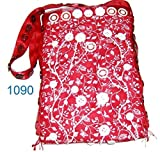 Red purse with white vines 126/1090
