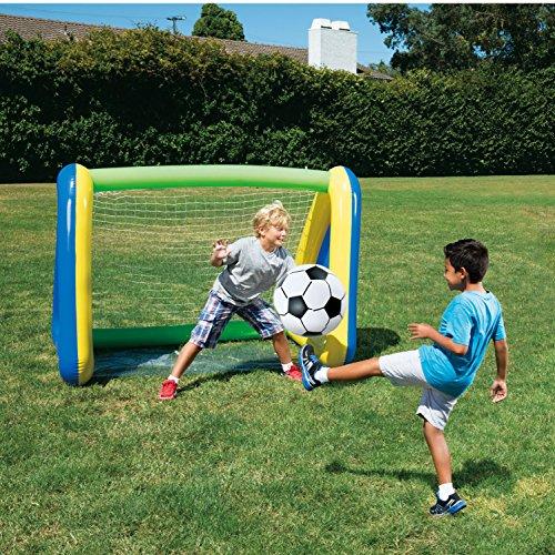 SUMMER WAVES Big Play Sports Jumbo Inflatable Pool Goal and Ball Soccer (Jumbo Soccer Ball)