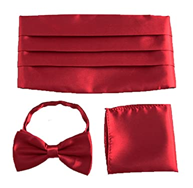 MENDENG Mens Classic Pre-Tied Satin Formal Bowtie Adjustable Bow Tie 6 Pack