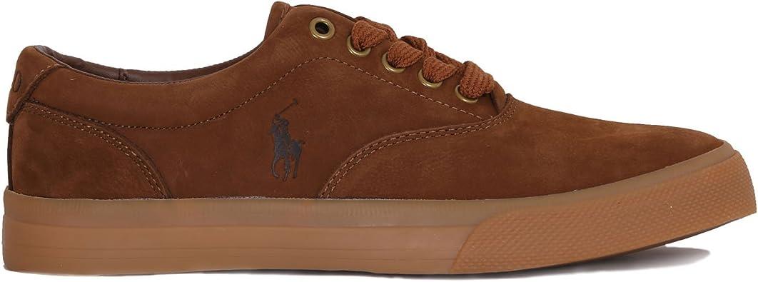 Polo Ralph Lauren - Zapatillas de Piel para Hombre marrón marrón ...