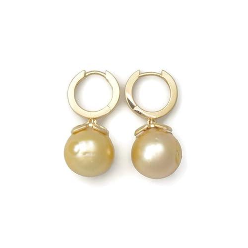 214ab8333b96 Donna Pizarro Designs Grandes aretes de perlas del mar del sur ...