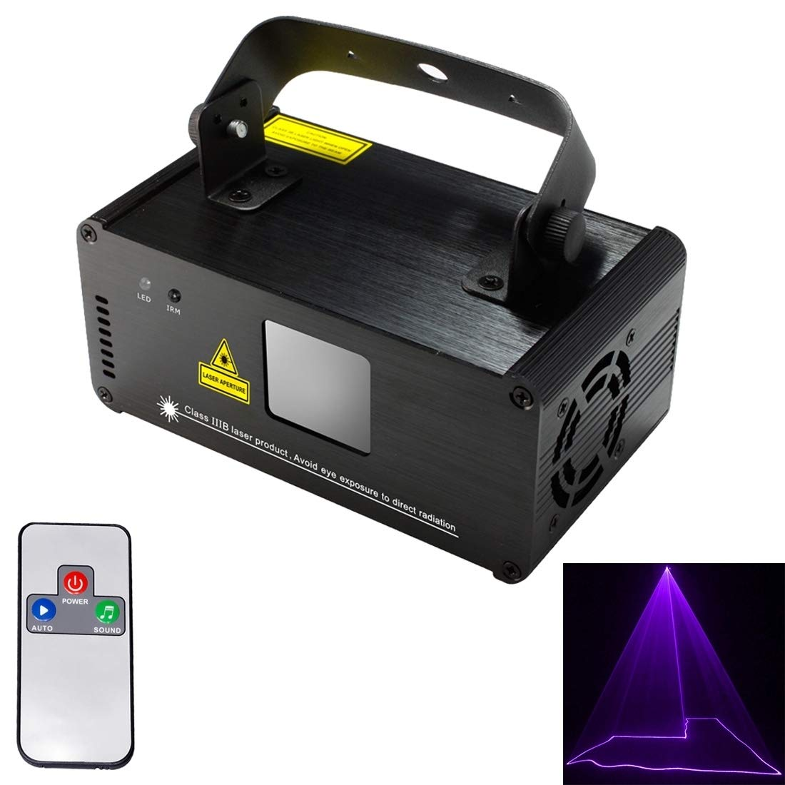 stage lighting DM-V150 18W LED Single Beam Projector with Remote Controller, Auto Run/Sound Control Modes, AC 100-240V