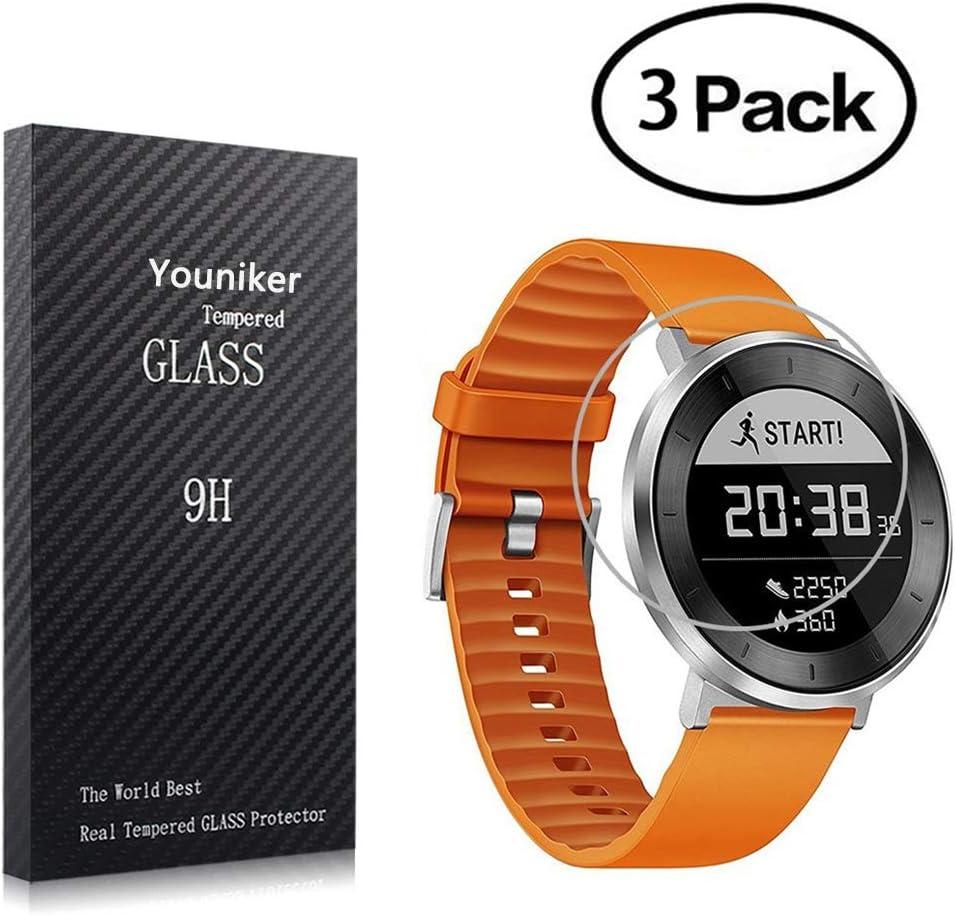 Youniker Protector de pantalla de cristal templado para Huawei Fit Smart Fitness Watch, dureza 9H, 0,3 mm de grosor, antiarañazos, antihuellas, sin burbujas