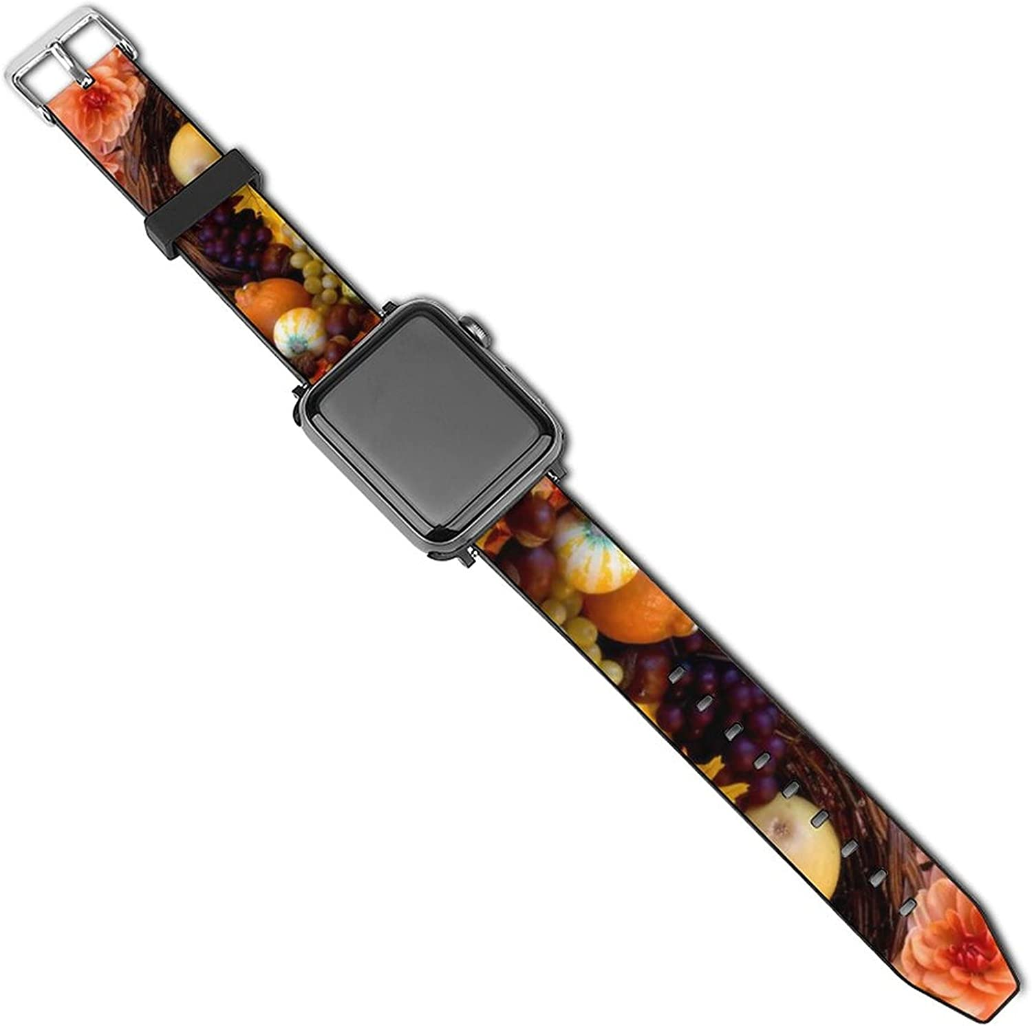 Compatible with Apple Watch Band 38mm 40mm 42mm 44mm, Women Men Soft PU Leather Wristbands Replacement Strap for iWatch Series 5 4 3 2 1