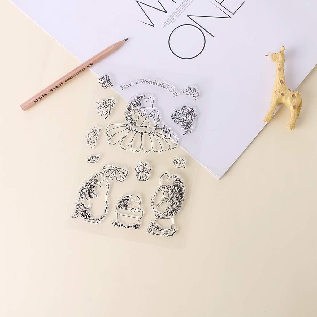 Perfetto per DIY Biglietto Di Auguri Per Notebook Carta di Invito Yiyilam Morbido TPR Timbro Sigillo Cartoon Hedgehog Modelli FAI DA TE Scrapbooking Photo Album Decor