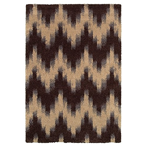 Couristan Moonwalk 6998/5074 Rug, 9-Feet 2-Inch by 12-Feet 5-Inch, Andromeda-Chocolate ()