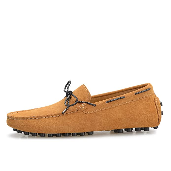 Shenn Men's Driving Car Casual Lace Up Suede Loafer Flats 9388:  Amazon.co.uk: Shoes & Bags