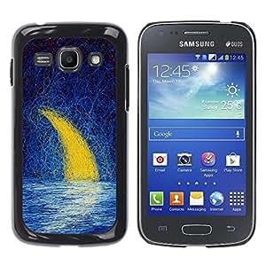 TopCaseStore / la caja del caucho duro de la cubierta de protección de la piel - Moon Crescent Painting Oil Sea Night Sky - Samsung Galaxy Ace 3 GT-S7270 GT-S7275 GT-S7272