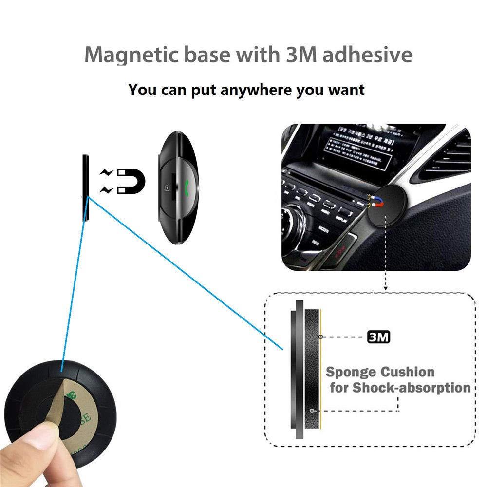 Supporto FM per Auto Ricevitore Audio Stereo Altoparlante Supporto iPhone Supporto telefonico HanGang Trasmettitore FM Bluetooth Kit Auto: Caricabatterie per Auto USB Android e MP3