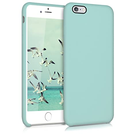 kwmobile Funda compatible con Apple iPhone 6 Plus / 6S Plus - Carcasa de TPU para móvil - Cover trasero en menta