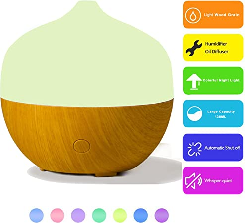 HIDLY 130ML Aroma Diffuser,Humidifier Filter,Air Freshener