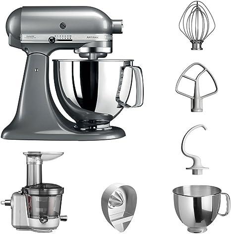 KitchenAid Robot de cocina fop Conjunto | Artisan 5 ksm125ps Licuadora del paquete |, incluye Licuadora vorsatz, Exprimidor y accesorios estándar Kontur-silber: Amazon.es: Hogar