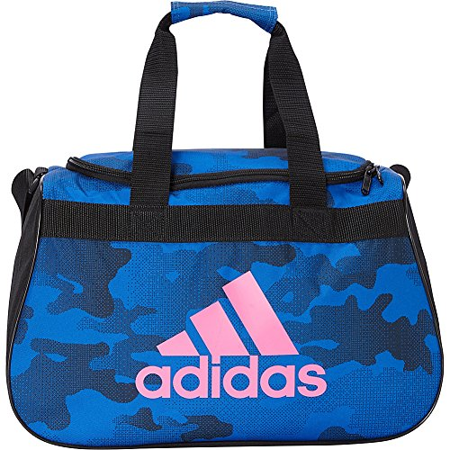 adidas Limited Edition Diablo Small Duffel Gym Bag in Bold Colors - (Blue Data Camo/Black/Semi Solar Pink)