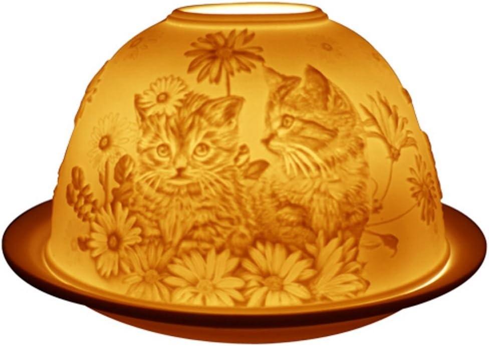 Welink Portavelas con dise/ño de gatos y gatitos