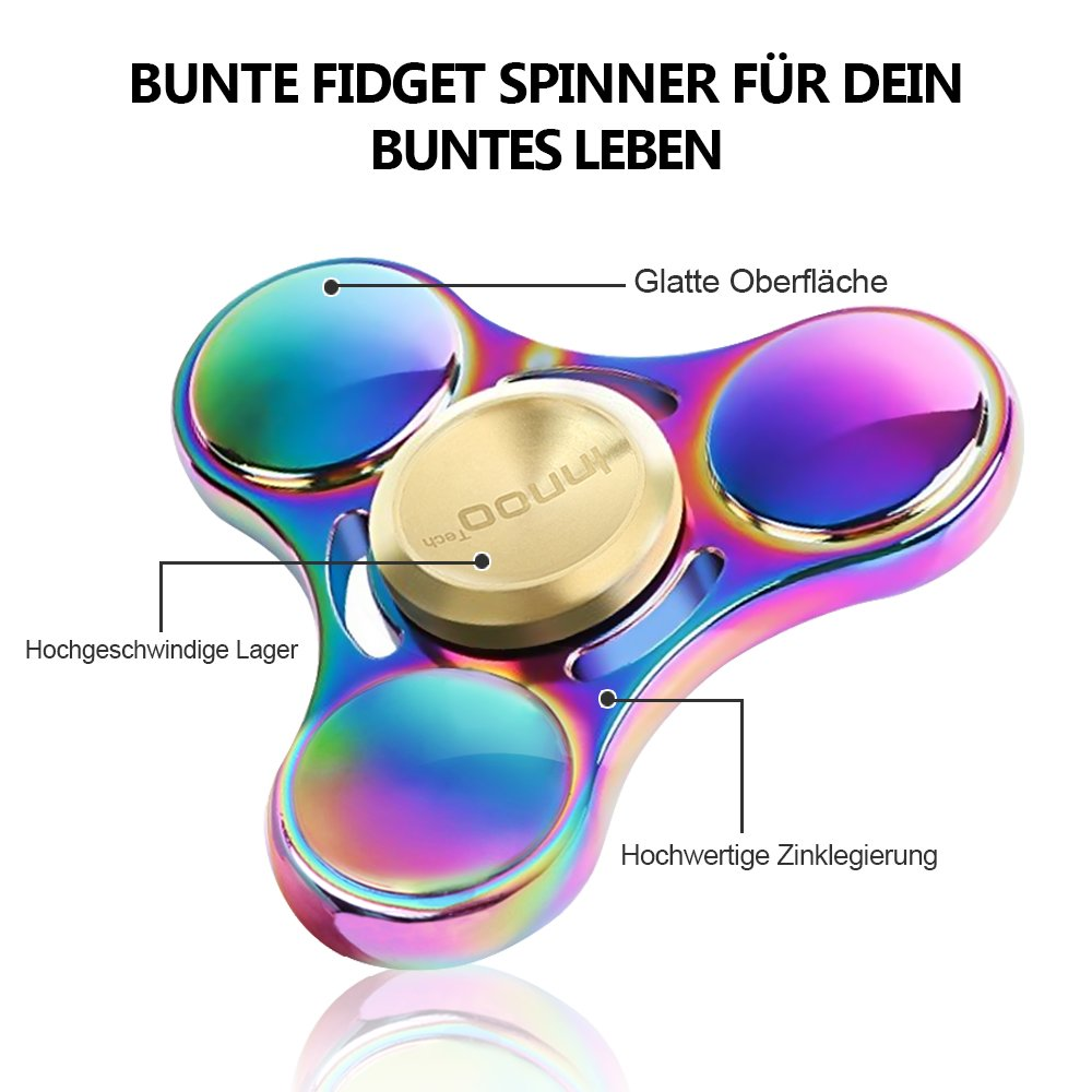 Tri-Spinner Fidget Spielzeug Kinder Erwachsene Metall Hand Spinner Unruhe Stress