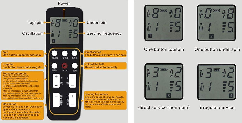 LSAMX H600-pro Tischtennis-Fernbedienung Ersatz-Controller