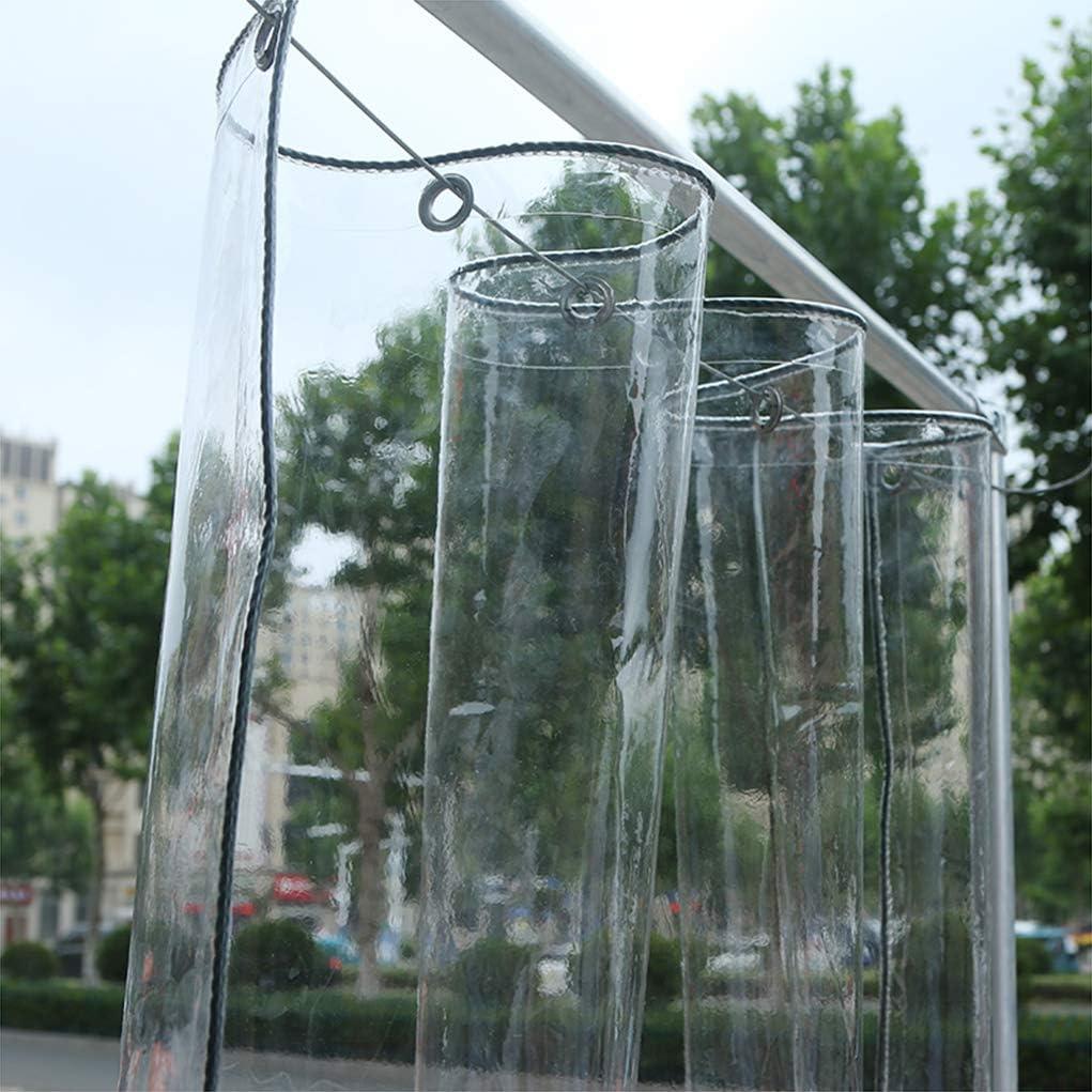 Gjfhome Transparente Plane Blumen-Pflanzenblatt Bedeckt Regendicht wasserdichte PVC-Kunststoffplane Mit /Ösen 400G // M/²,1M*2M